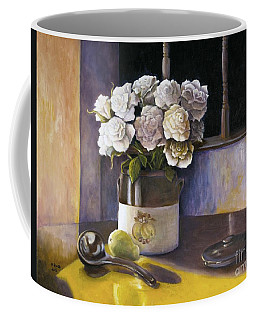 Sunday Morning And Roses Redux Coffee Mug