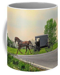 Sunday Ride At Sunset On Ronks Road Coffee Mug