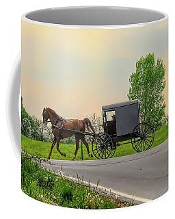 Sunday Ride At Sunset On Ronks Road Coffee Mug