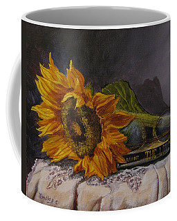 Sunflower And Book Coffee Mug