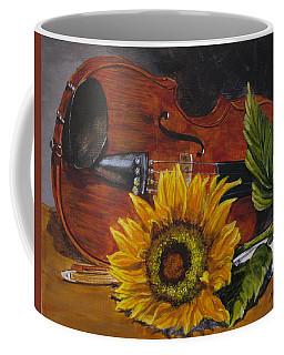 Sunflower And Violin Coffee Mug