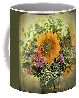Coffee Mug featuring the photograph Sunflower Bouquet by Expressive Landscapes Fine Art Photography by Thom