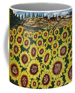 Sunflower Fields  Forever Coffee Mug by Jeffrey Koss