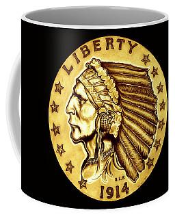 Sunflower Gold Quarter Eagle Coffee Mug
