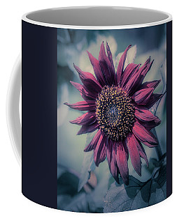 Coffee Mug featuring the photograph Sunflower In Red by John Brink