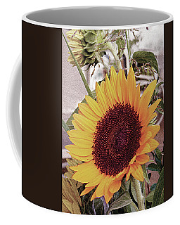 Coffee Mug featuring the painting Sunflower by John Dyess