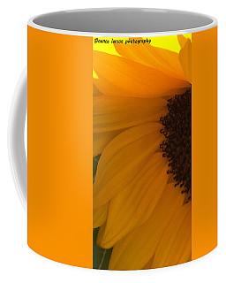 Sunflower Macro Coffee Mug by Nance Larson
