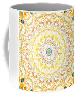 Sunflower Mandala- Abstract Art By Linda Woods Coffee Mug