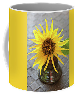 Coffee Mug featuring the photograph Sunflower Portrait by Trina Ansel