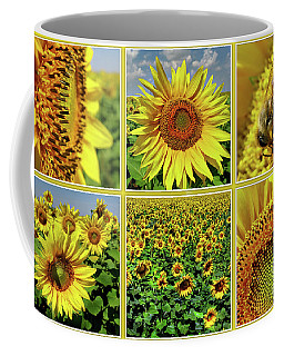 Sunflower Story - Collage Coffee Mug