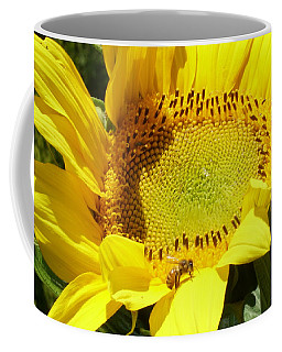 Sunflower With Honeybee Coffee Mug