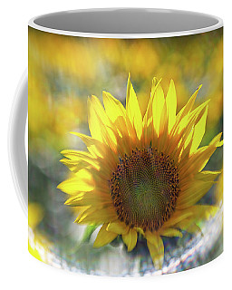 Sunflower With Lens Flare Coffee Mug