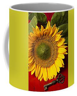 Sunflower With Old Key Coffee Mug