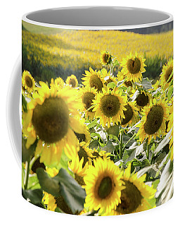 Coffee Mug featuring the photograph Sunflowers 13 by Andrea Anderegg