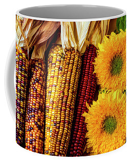 Sunflowers And Indian Corn Coffee Mug