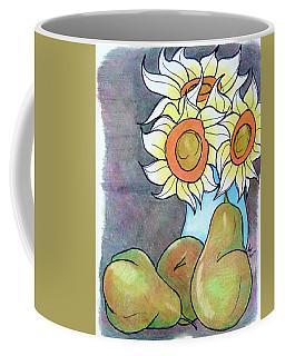Sunflowers And Pears Coffee Mug by Loretta Nash