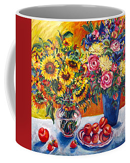 Sunflowers And Plums Coffee Mug