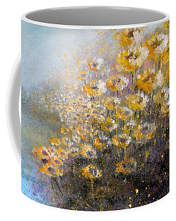 Coffee Mug featuring the painting Sunflowers by Andrew King