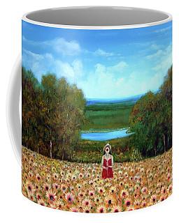 Sunflowers At Lake Wallenpaupack Coffee Mug