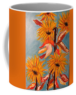 Sunflowers At Harvest Coffee Mug