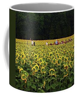 Sunflowers Everywhere Coffee Mug by John Scates