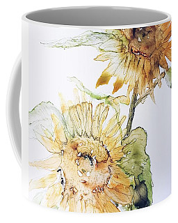Coffee Mug featuring the painting Sunflowers II Uncropped by Monique Faella