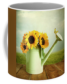 Sunflowers In A Watering Can Coffee Mug