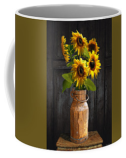 Sunflowers In Copper Milk Can Coffee Mug