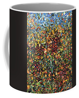 Coffee Mug featuring the painting Sunflowers by James W Johnson