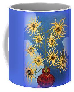 Sunflowers On Navy Blue Coffee Mug