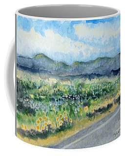 Sunflowers On The Way To The Great Sand Dunes Coffee Mug by Holly Carmichael