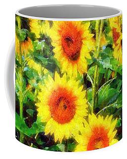 Sunflowers Parade In A Field Coffee Mug
