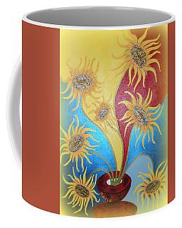 Sunflowers Symphony Coffee Mug by Marie Schwarzer
