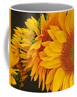 Sunflowers Train Coffee Mug