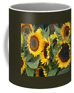 Coffee Mug featuring the photograph Sunflowers Two by Chrisann Ellis