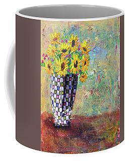 Sunflowers Warmth Coffee Mug by Haleh Mahbod
