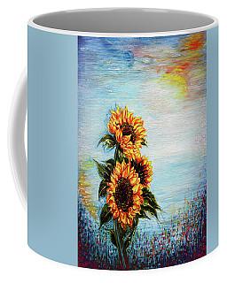 Sunflowers - Where Ocean Meets The Sky Coffee Mug