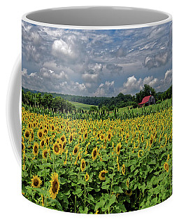 Sunflowers With Barn Coffee Mug