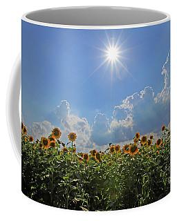 Sunflowers With Sun And Clouds 1 Coffee Mug