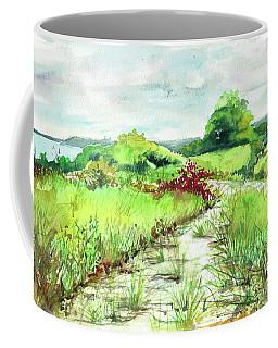 Coffee Mug featuring the painting Sunken Meadow, September by Susan Herbst