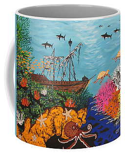 Sunken Treasure Ship Coffee Mug