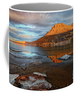 Sunlight On The Flatirons Reservoir Coffee Mug