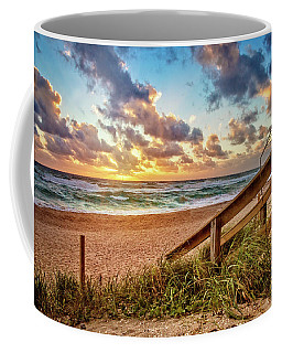 Coffee Mug featuring the photograph Sunlight On The Sand by Debra and Dave Vanderlaan