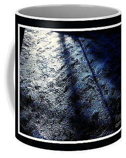 Sunlight Shadows On Ice - Abstract Coffee Mug