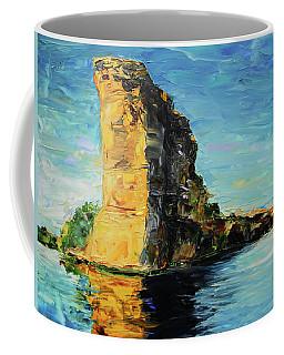 Sunlit Rock Face Coffee Mug