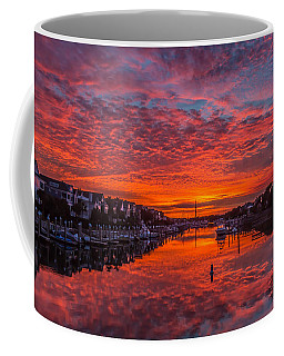 Sunlit Sky Over Morgan Creek -  Wild Dunes On The Isle Of Palms Coffee Mug
