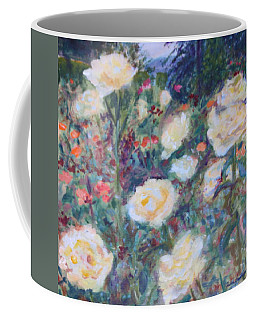 Sunny Day At The Rose Garden Coffee Mug by Quin Sweetman