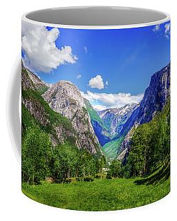 Sunny Day In Naroydalen Valley Coffee Mug