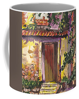 Coffee Mug featuring the digital art Sunny Doorway by Darren Cannell