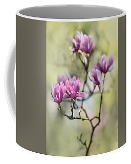 Sunny Impression With Pink Magnolias Coffee Mug
